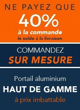 Produit aluminium haut de gamme sur mesure. Payez 40% à la commande, le solde à la livraison.