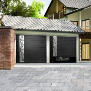 Porte de garage aluminium sectionnelle isolée modèle Dordogne
