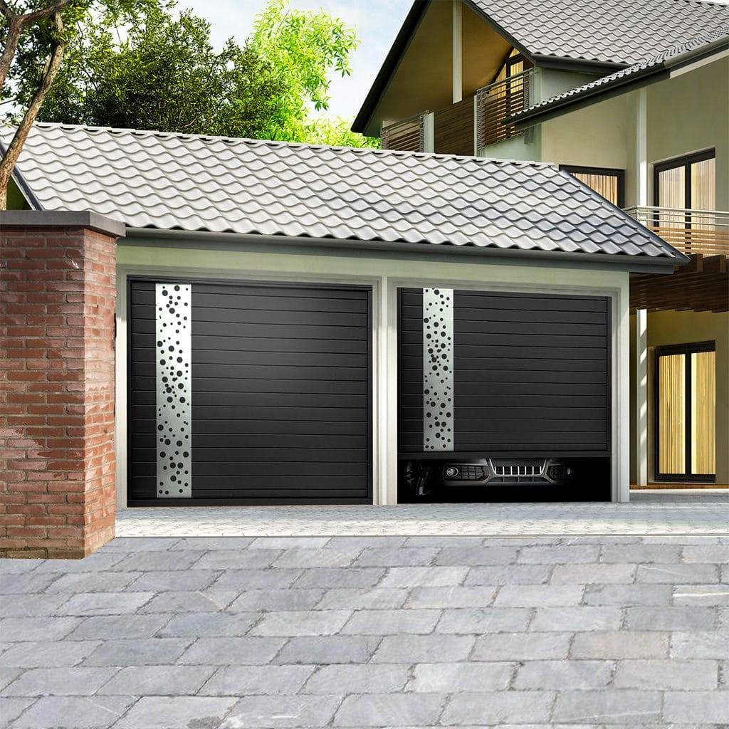 Porte de garage aluminium sectionnelle isolée modèle Garonne