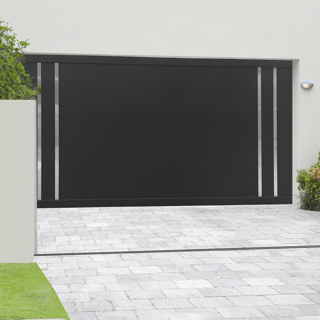 Porte de garage aluminium sectionnelle isolée Avoriaz