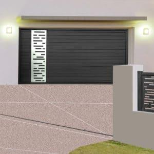 Porte de garage alu sectionnelle isolée Bordeaux