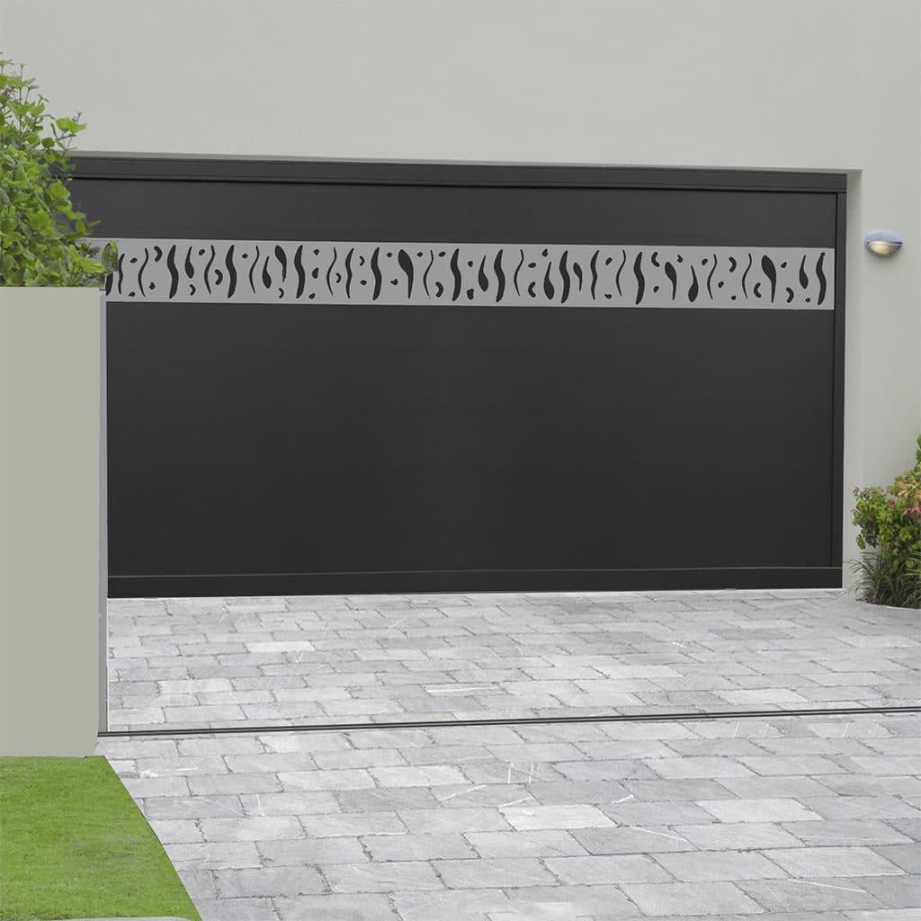 Porte de garage alu sectionnelle isolée Briançon