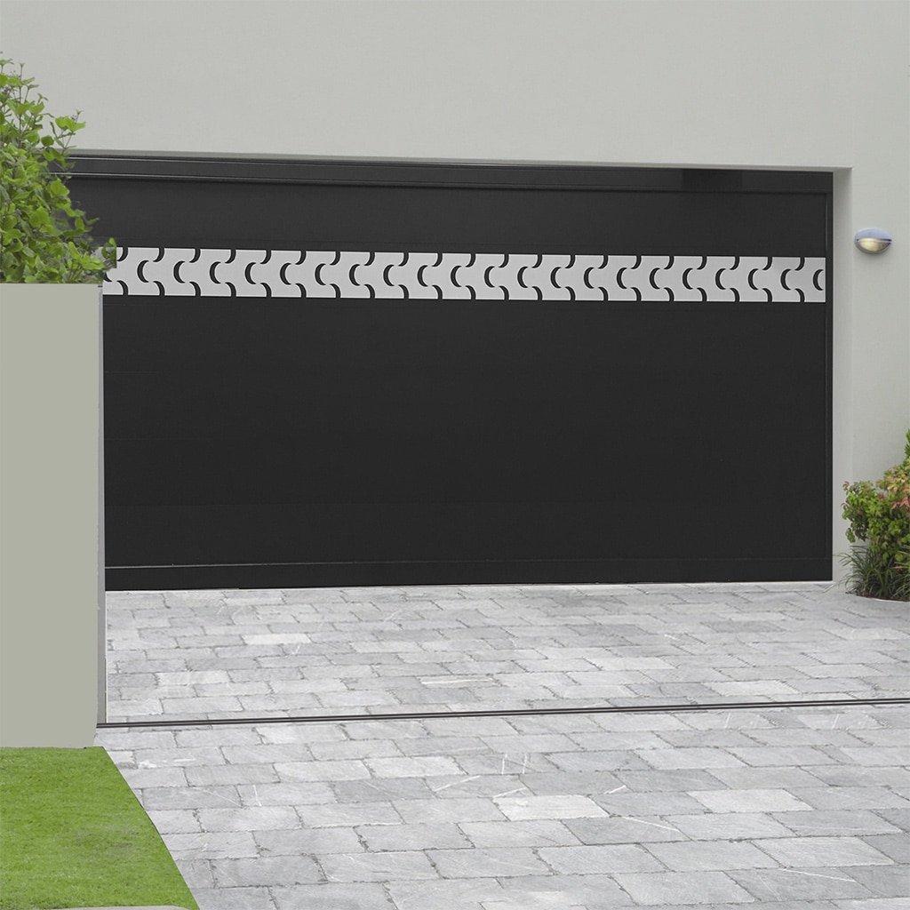 Porte de garage alu sectionnelle isolée Courchevel