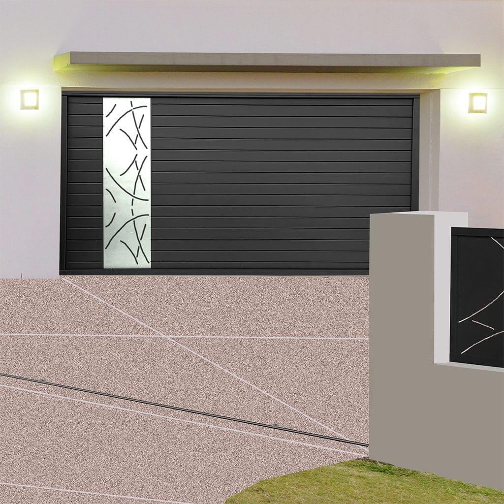Porte de garage alu sectionnelle isolée Nice