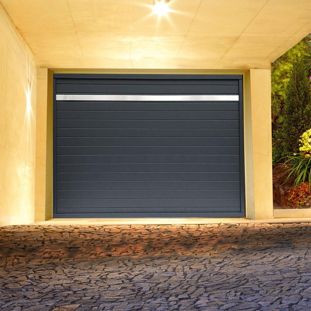 Porte de garage alu sectionnelle isolée Onyx