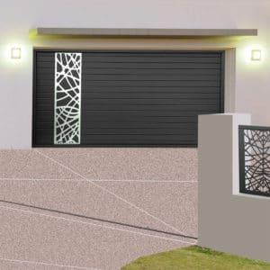 Porte de garage alu sectionnelle isolée Orléans