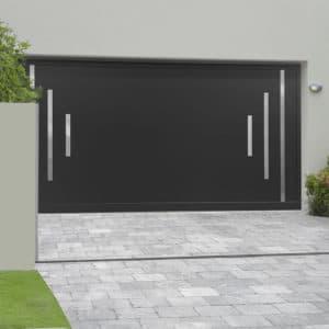 Porte de garage alu sectionnelle isolée Tignes