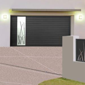 Porte de garage alu sectionnelle isolée Toulon