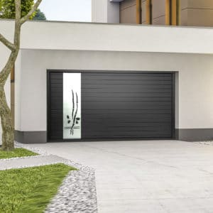 Porte de garage alu sectionnelle isolée Bambou