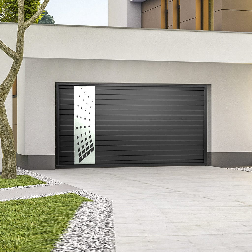 Porte de garage alu sectionnelle isolée Cosmos