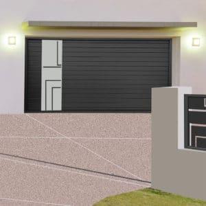 Porte de garage alu `brest