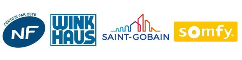 Cerifié NF - Sérrures Wink Haus - Verre Saint Gobain - serrure connectée Somfy
