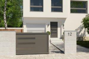 Portail coulissant aluminium modèle Dresde