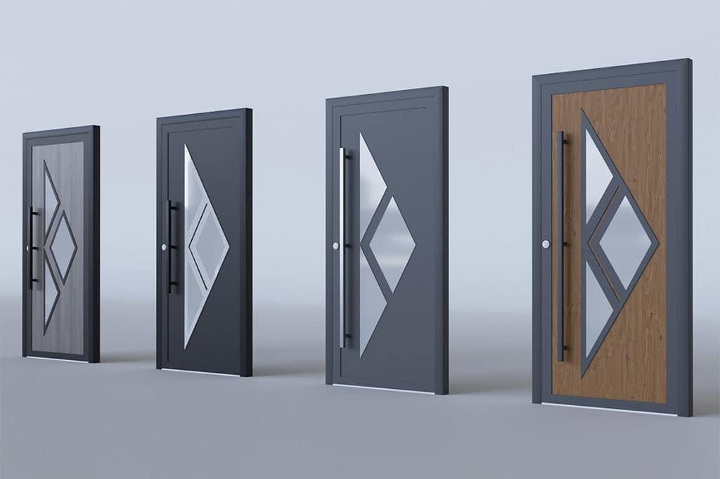 porte d'entrée alu modèle Hanovre
