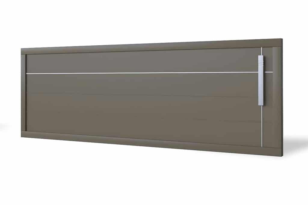 Portail coulissant aluminium modèle Helsinki