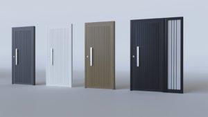 Porte d'entrée aluminium modèle Bologna