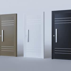 Porte d'entrée aluminium modèle Boras
