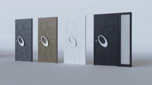 Porte d'entrée aluminium modèle Florencia
