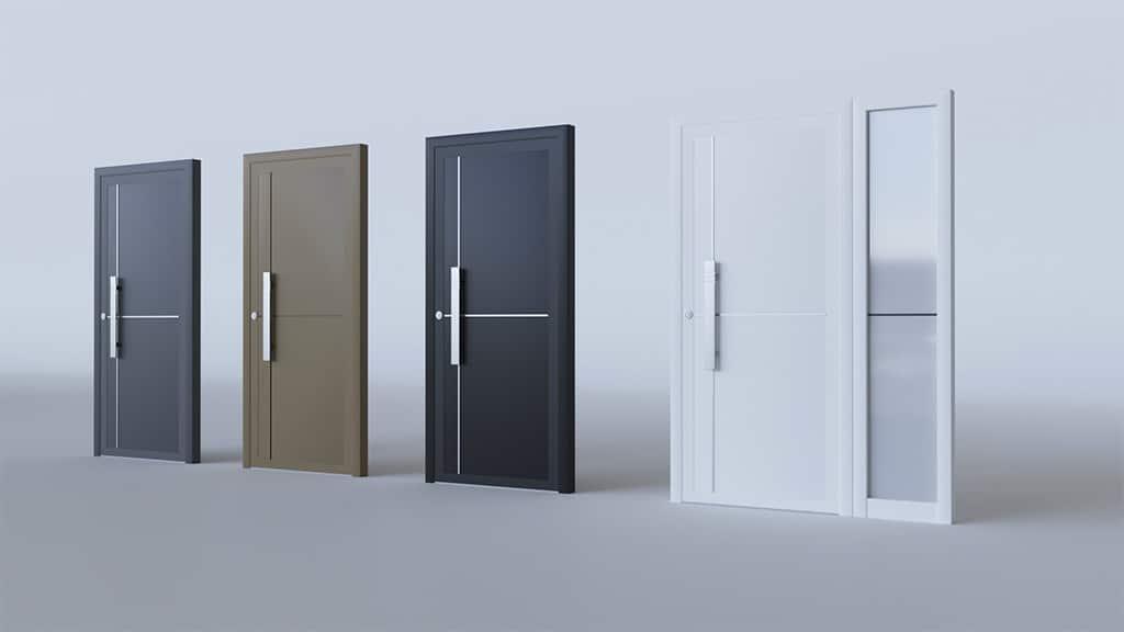 Porte d'entrée aluminium modèle Helsinki