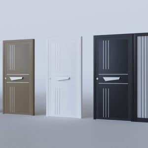 Porte d'entrée aluminium modèle Lund