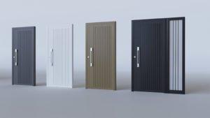 Porte d'entrée aluminium modèle Maranelo