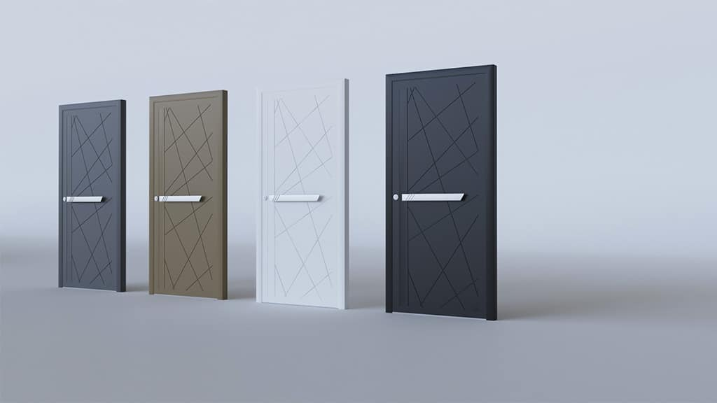 Porte d'entrée aluminium modèle Palermo