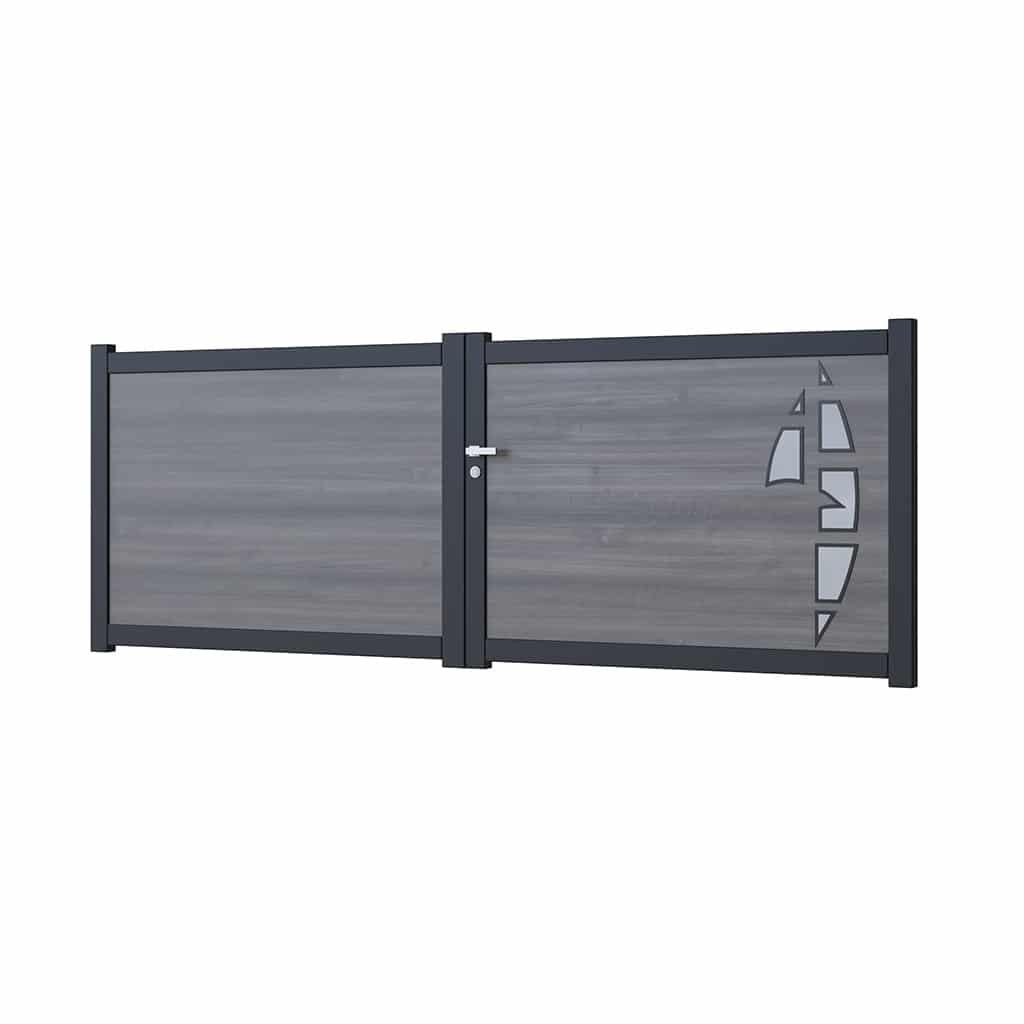 portail battant aluminium modele Geneve
