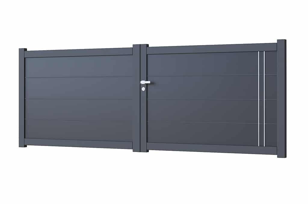 Portail battant aluminium modèle Göteborg