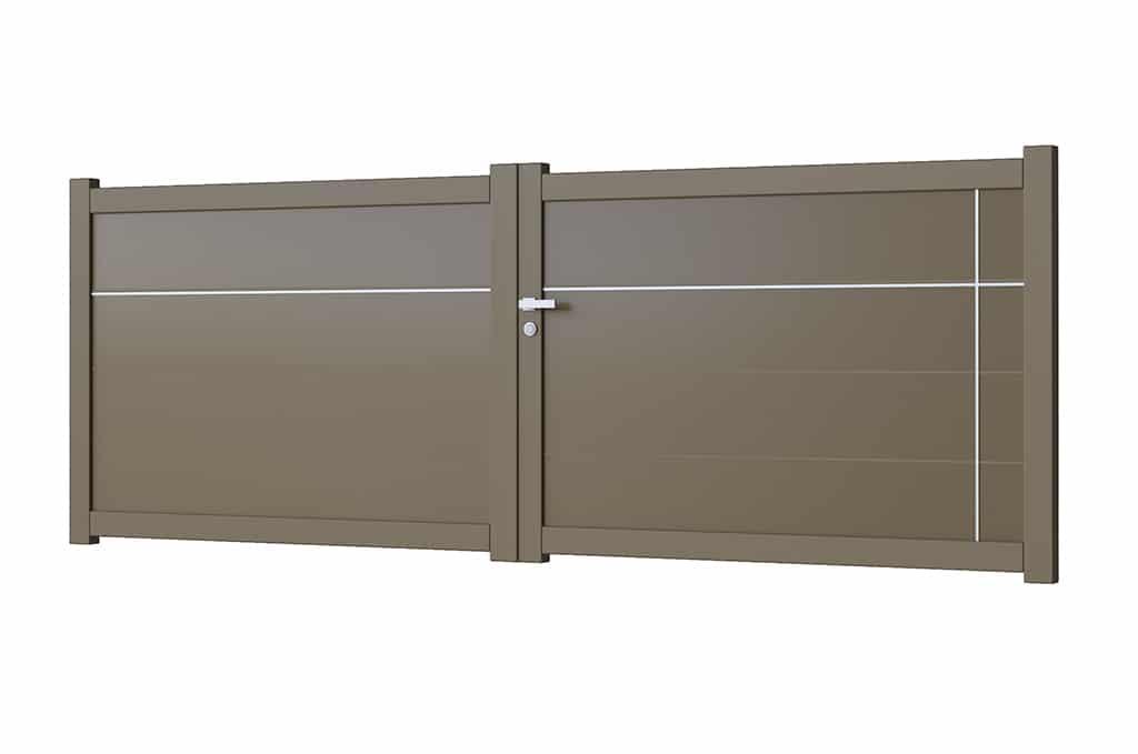 Portail battant aluminium modèle Helsinki