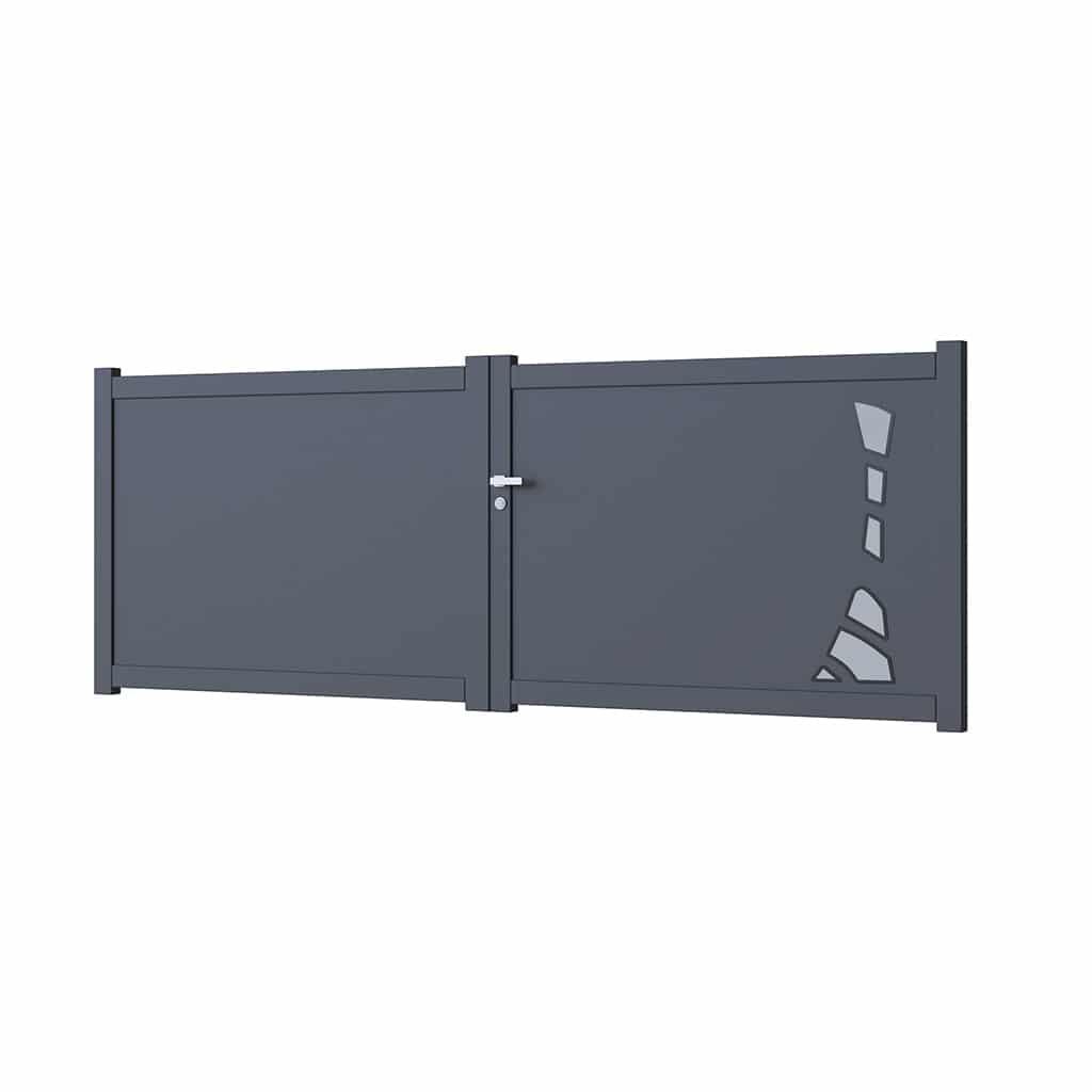 Portail battant vitré aluminium modèle Bâle