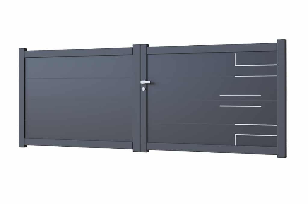 Portail battant aluminium modèle Kalmar