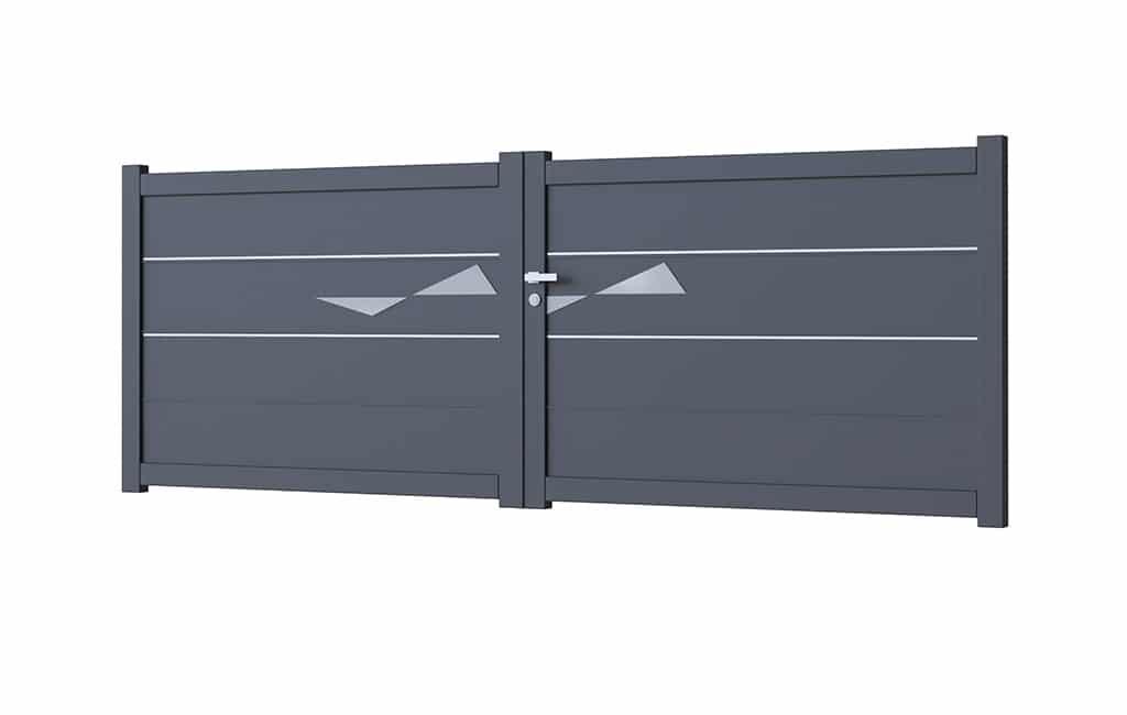 Portail battant aluminium modèle Venecia