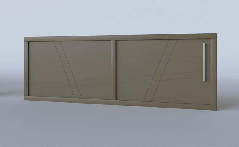 Portail coulissant aluminium modèle Capri
