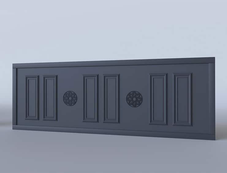Portail coulissant aluminium modèle Lahaye