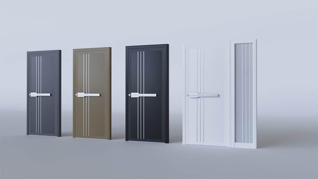 Porte d'entrée aluminium modèle Stockholm