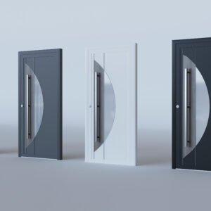 Porte d'entrée aluminium modèle Baden Baden