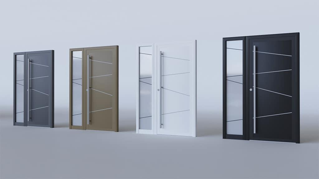 Porte d'entrée aluminium modèle Zurich