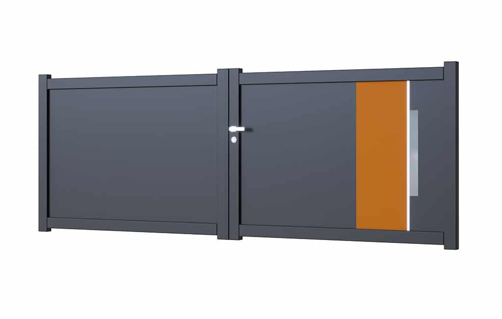 Portail-battant-aluminium modèle Alicante