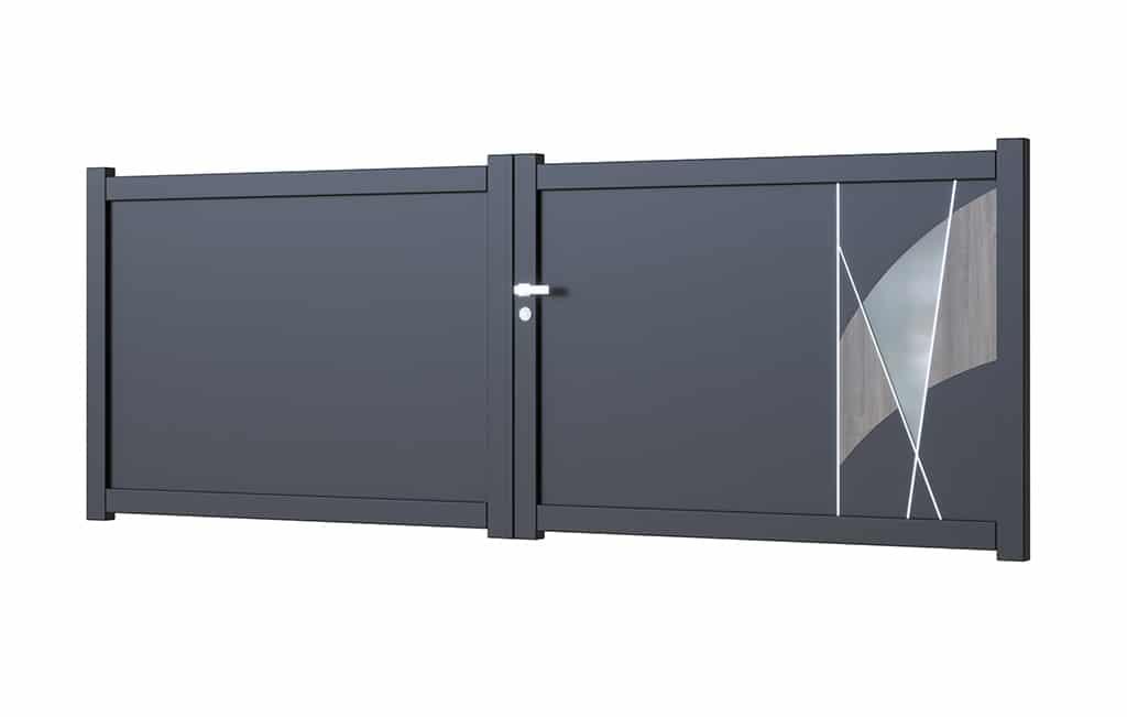 Portail-battant-aluminium modèle Bilbao