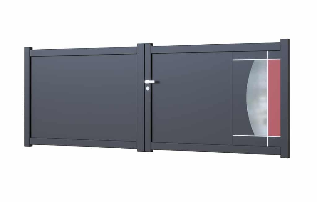Portail-battant-aluminium modèle Malaga