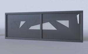 Portail coulissant vitré aluminium modèle Torino