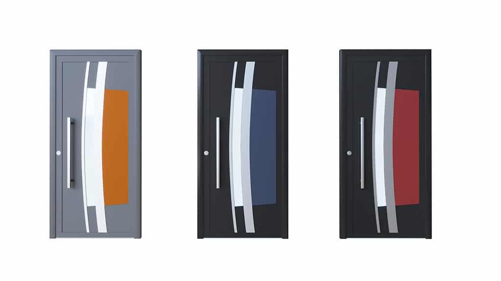 Porte d'entrée aluminium modèle Cordoba