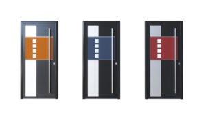 Porte d'entrée aluminium modèle Barcelona