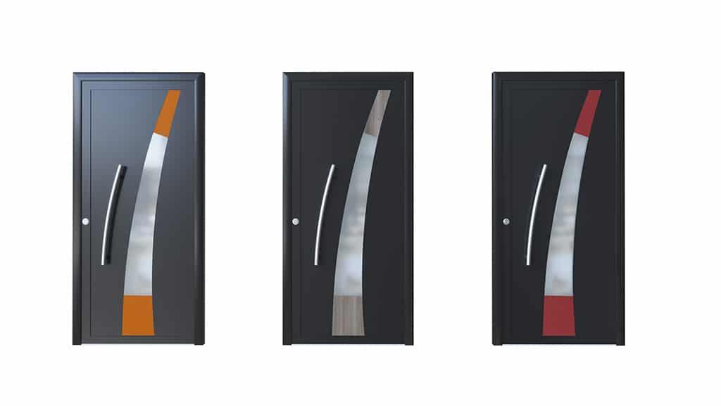 Porte d'entrée aluminium modèle Madrid