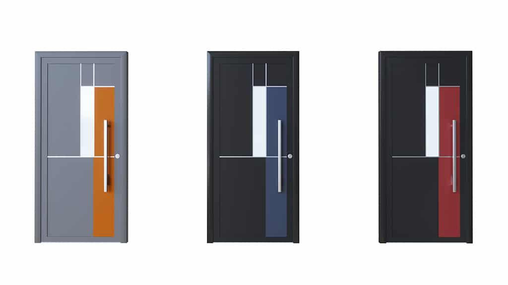 Porte d'entrée aluminium modèle Sevilla