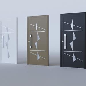 Porte d'entrée vitrée aluminium modèle Venecia