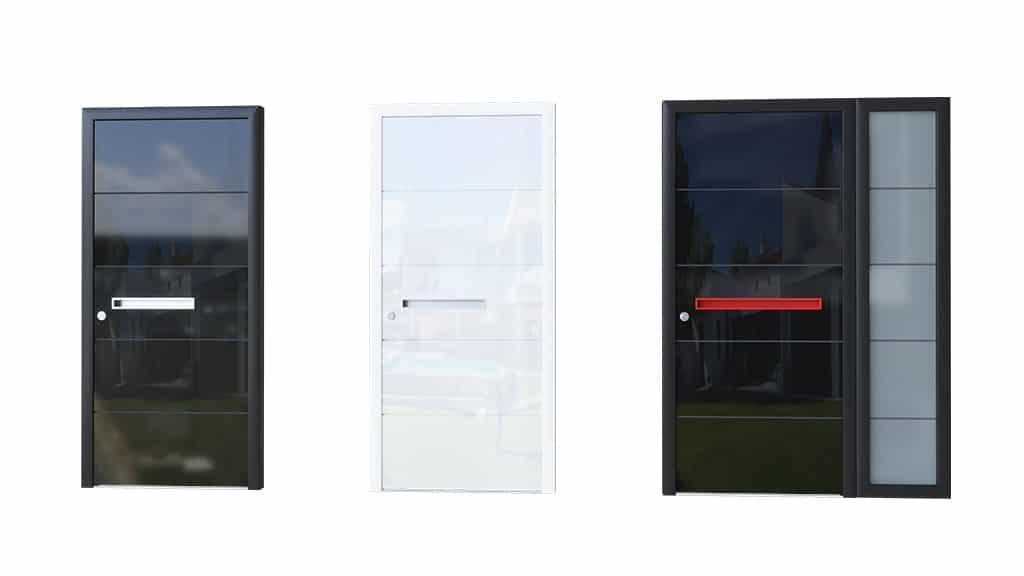 Porte d'entrée aluminium modèle Glass 2