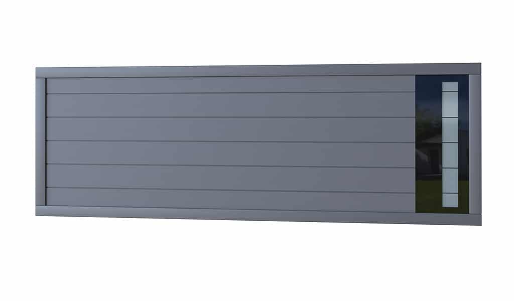 Portail aluminium modèle Glass 3