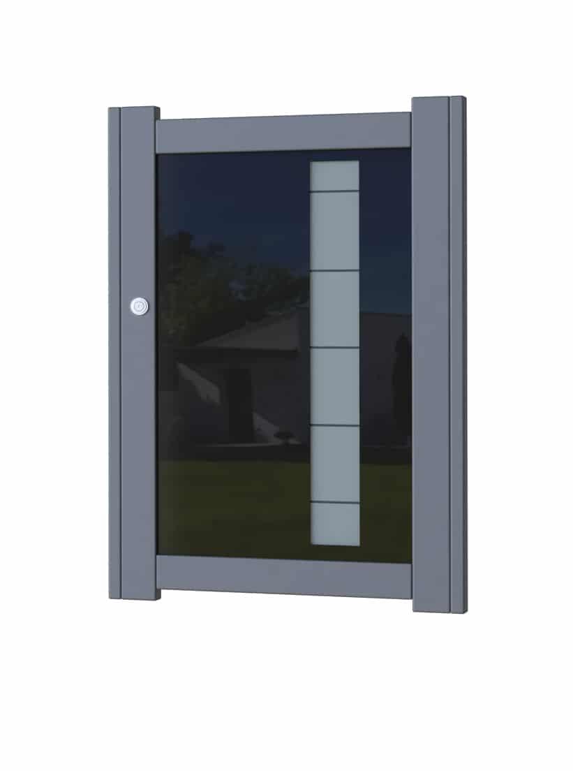 Portillon aluminium modèle Glass 3
