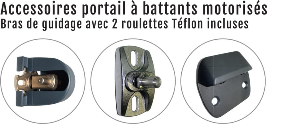 accessoire portail battant en aluminium